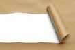 Leinwanddruck Bild - Brown Torn Paper