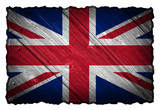 United Kingdom Flag painted on wood tag