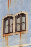 detail of a window with iron bars, portugal, europe