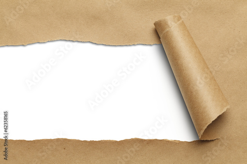 Brown Torn Paper - 62358165