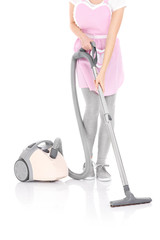 Woman with a vacuum
