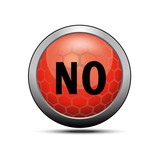No icon illustration red vector