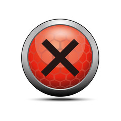 Delete cross icon illustration red vector