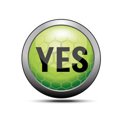 Yes icon green illustration vector