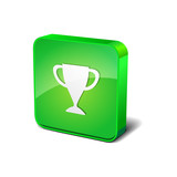 Cup 3d Rounded Corner Green Vector Icon Button