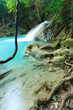 Deep Forest Waterfall in Thailand (Erawan Waterfall).