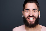 Man with beard smiling
