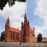 St. Anna's Church in Vilnius, Lithuania.