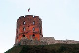 Tower of Gediminas, symbol of Vilnius. Summer