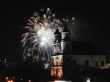 The fireworks and light in Vilnius