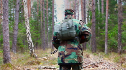 Recruit with optical rifle in the woods episode 5