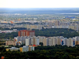 Panorama of new Tallinn city. Aerial view from TV tower.