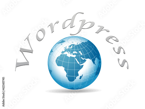 Wordpress mundo azul