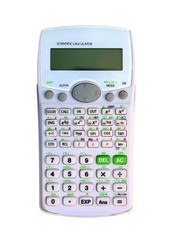 A scientific calculator on a white background