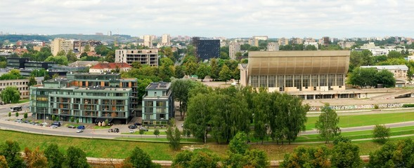 View of the city of Vilnius and Neris River