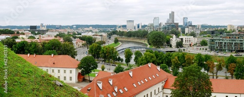 Vilnius. The view from Hill of Upper Castle