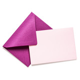 Pink envelope with card