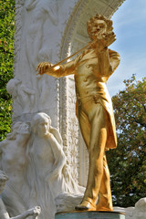 The statue of Johann Strauss