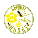 natural honey stamp