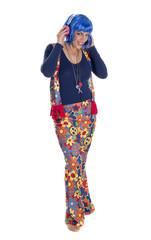 hippie woman flower