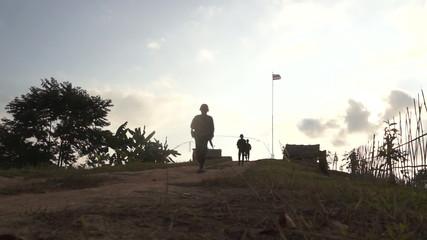 Soldier patrol