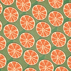 Citrus Seamless Pattern Background