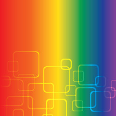 Rainbow Background With Squares
