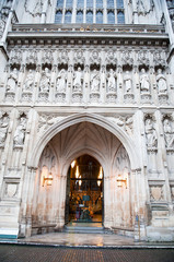 The gothic Westminster Abbey church in London, UK