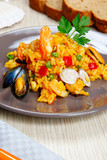 Risotto with shellfish, paella