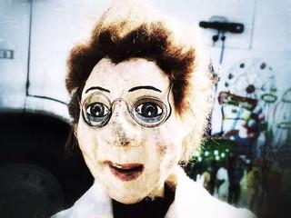 Alte Arzt Puppenfigur vom Theater