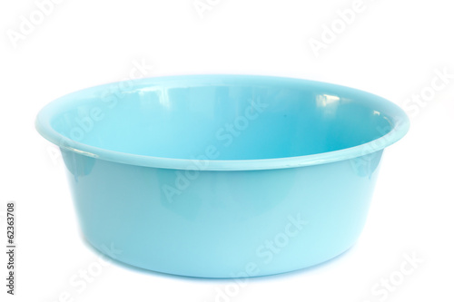 Plastic wash bowl isolated on white background