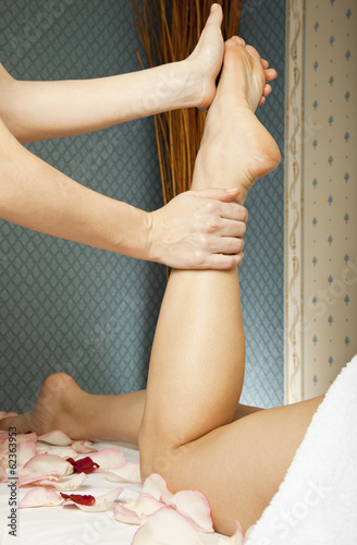 foot massage female legs