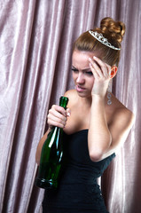 young girl,problems with alcohol