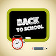 Back to School Title with Chalk - Alarm Clock