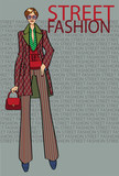 Fashionable woman.Fashion Illustration
