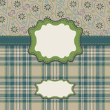 Mens Design template in tartan and Paisley
