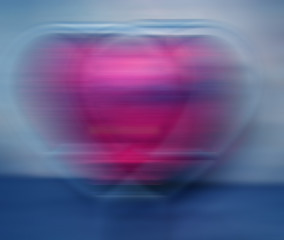 abstract background of a double heart