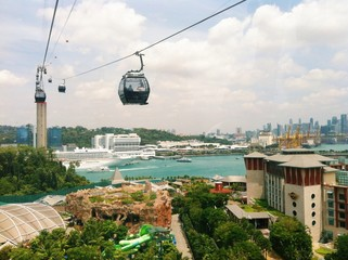 View from cable car to Sentosa, Singapore