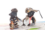 handmade old black Teddy bears