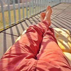 Balkon Nickerchen
