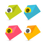 E-mail, Email Icons, Envelope Icons Set