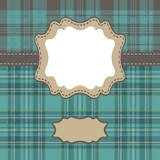 Mens Design template with tartan