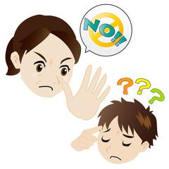 NOという母、理解できない息子