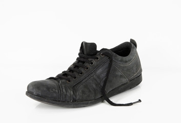 used leather vintage old shoe