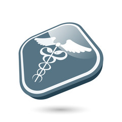 äskulapstab medizin symbol zeichen modern