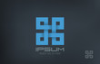 Square Abstract Rebus vector logo design. Infinity loop - 62367157