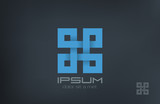 Square Abstract Rebus vector logo design. Infinity loop