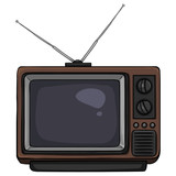 Vector Cartoon Retro TV