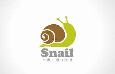 Snail cartoon fun style vector logo design. Creative design