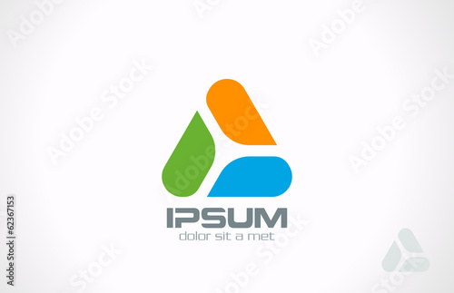 Triangle Abstract vector design Logo. Media Sport style